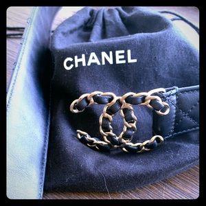 Chanel leather belt sz32